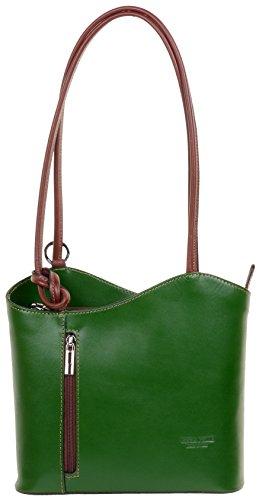 un la italien moyennes main rangement et nbsp;Comprend de nbsp;Versions à bandoulière Vert grandes sac Moyen Sac protecteur dos à ou main fabriqué sac et à à cuir marque de Marron sac en ZUnq4BP5