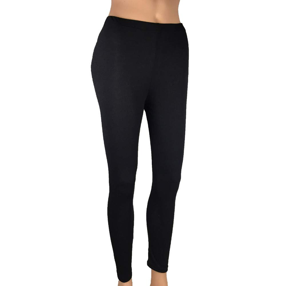 Active Leggings for Women, Yoga Pants for Women, Women Low Waisted Skinny Opaque Soft Yoga Waisted Slim Pants Solid Length Pants Stretch Jersey Ruched Butt Lifting Black