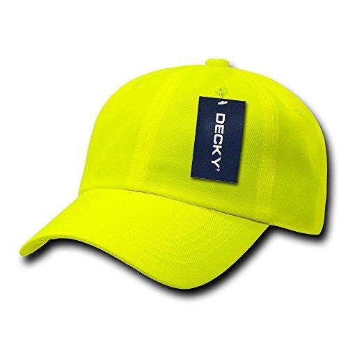 DECKY 6 Panel Neon Cap, Yellow -