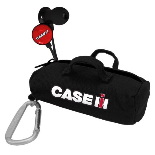Case IH Black Scorch Earbuds w/ Budbag