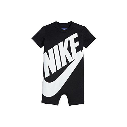 (NIKE Baby Boy Infant Shortall (Black (56D369-023)/White/Black, 3-6 Months))