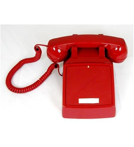 Cortelco 250047-vba-ndl Red Desk No Dial (itt-2500ndl-rd) -