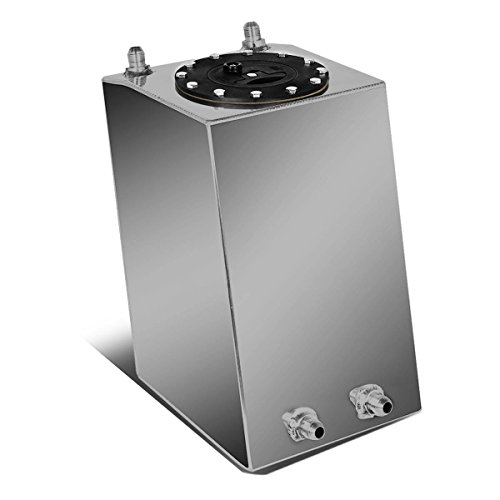 (DNAMotoring ALU-FT-B-BF-3G Aluminum Bottom-Feed Fuel Cell Gas Tank, 3 gal)