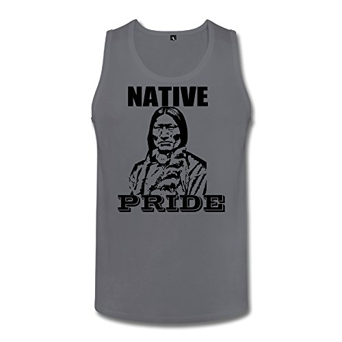 Indian Native Pride Men Tank Top Deepheather Large (Indian Chief Headdress For Sale)