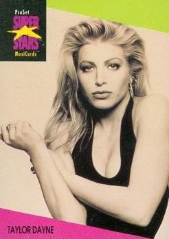 - Taylor Dayne trading Card (Musician) 1991 Proset Musicards Super Stars #40
