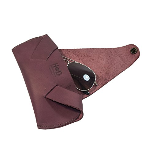 Rustic Leather Foldable Sunglass case Handmade by Hide & Drink :: - Oakley Replacement Lenses Buy