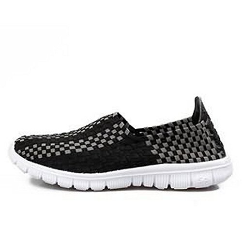 Played Monopoly (Men & Women Easy Wear Dry Fast Light Weight Breathable Cool Comfortable Mesh Outdoor running Walking shoes Black US8.5/EU42/26.5CM)