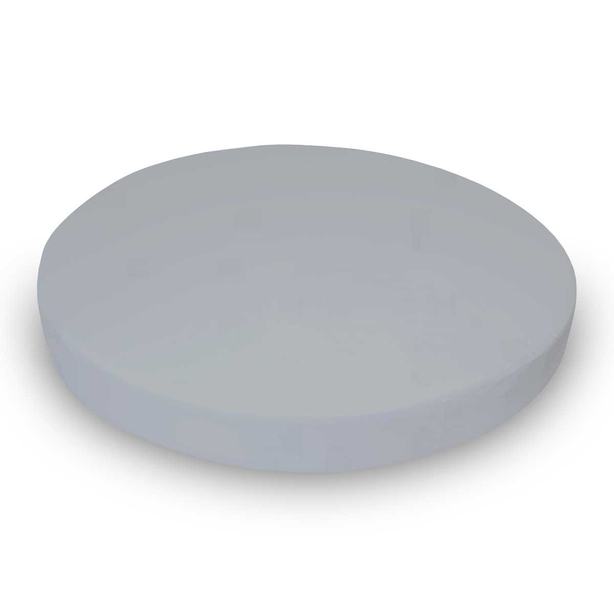 SheetWorld Fitted Oval (Stokke Mini) - Solid Grey Woven - Made In USA by SHEETWORLD.COM