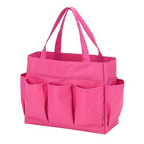 Carry All Tote Bag with 7 Outside Pockets Custom Embroidery Available (Tote Bag With Pockets)