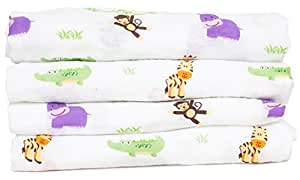 """Baby Swaddle Blanket Gift Set by Lilbaby (100% Organic Muslin Cotton, Extra Large 47"""" X 47"""", 2 Count) BONUS: Matching drawstring bag included, making it the perfect gift set for baby showers!"""