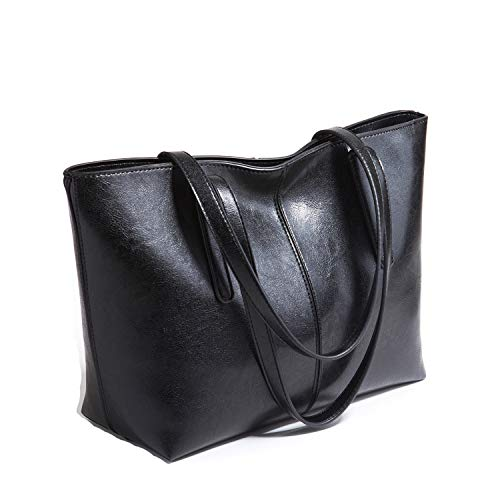 Cawmixy Top Handle Bag Satchel Women Shoulder Bags Classic Tote Ladies Designer Purses Woman Bags (C Black)