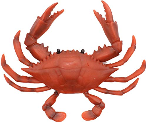 Gemini&Genius 2 Pcs Crabs Marine Animal World Sea Life Action Figure Ocean Model Toy Educational, Role Play, Swim, Bath Toys for Kids