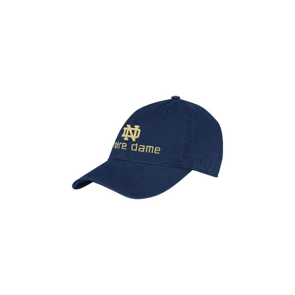 adidas Notre Dame Fighting Irish Navy Blue School Logo Adjustable Slouch Hat