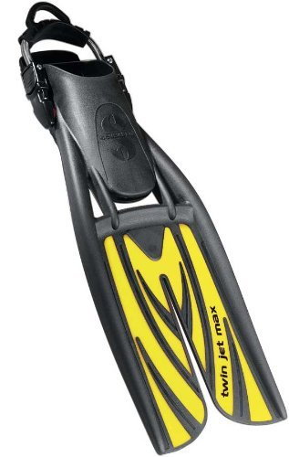 Twin Jet Max Fins (Black/Yellow, M/8-10)