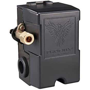 Phoenix 69MB8Y 115/150 PSI 1-Port Air Compressor Switch with Unloader Valve (Furnas type)