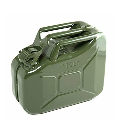 10 Litre Green Jerry Can for Fuel Petrol Diesel etc - Compact Design ASC