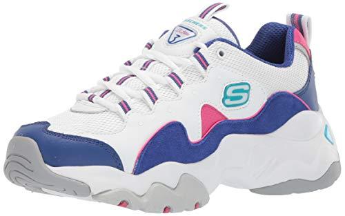 Skechers Women's D'Lites 3.0-ZENWAY Sneaker,White,WBLP,8.5 M ()