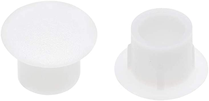 Flush Type White Plastic Panel Hole Plugs Button Tops for Cabinet Cupboard Shelf Furniture Tegg Screw Caps Cover 100PCS 5mm 3//16Inch