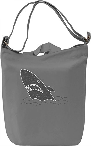 Shark Borsa Giornaliera Canvas Canvas Day Bag| 100% Premium Cotton Canvas| DTG Printing|