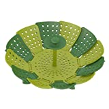 Joseph Joseph 40023 Lotus Plus Folding Non-Scratch Steamer Basket, Green