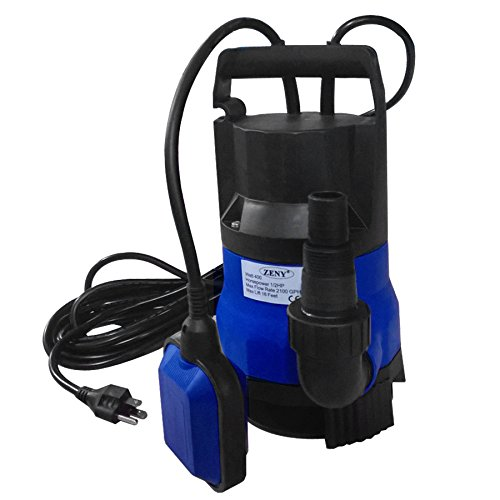 ZENY 1/2HP 2000GPH 400W Submersible Dirty Clean Water Pump Swimming Pool Pond Heavy Duty Water Transfer ()