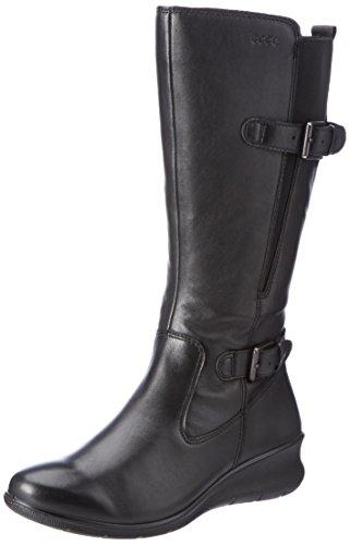 ECCO Women's Women's Babett Wedge Gore-Tex Winter Boot, Black, 37 EU/6-6.5 US Comfortable Walking Boots