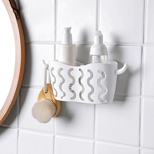 umfun-dish-cloths-rack-suction-sponge-holder-clip-rag-storage-rack-152x82cm-white