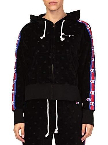Champion Donna Reverse s Black Cod Velluto Weave Size Felpa In 111045 tqERwPx