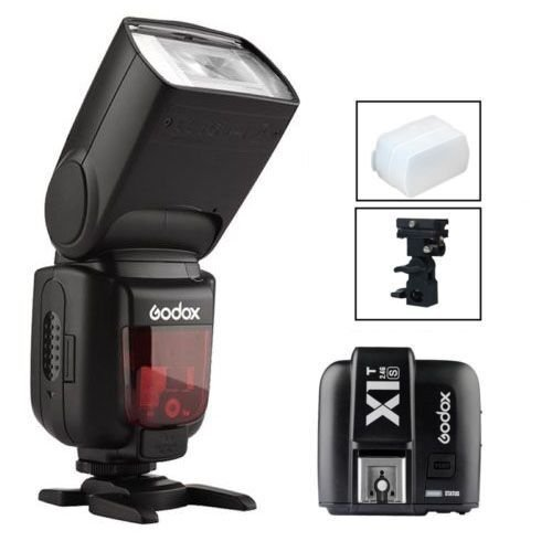 Godox Thinklite tt685s TTL High速度1 / 8000s gn60カメラフラッシュスピードライト+ x1sワイヤレストリガーfor Sony DSLRカメラ+ディフューザー+ Bタイプホルダーブラケット+ Huihuang USB LED無料ギフトの商品画像