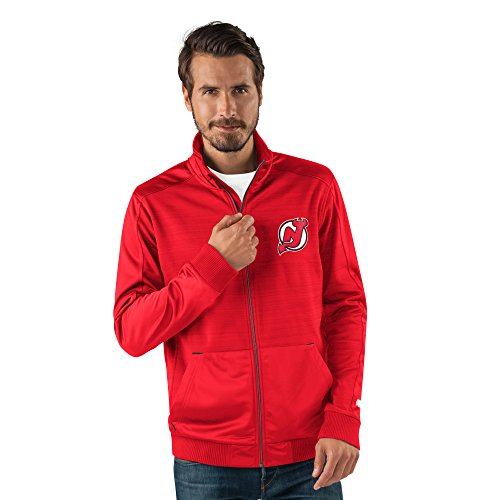Anaheim Mens Jerseys (NHL New Jersey Devils Men's Progression Full Zip Track Jacket, XX-Large, Red)
