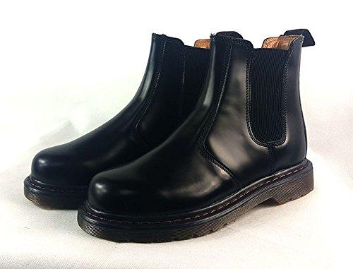 Chelsea Smart tobillo de Casual UK6 concesionario 40 botas desierto Suede italiano Negro negro zapatos Mens EUR estilo BqwSPv5x1X
