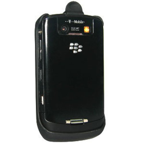 Amzer Rubberized Holster with Belt Clip for BlackBerry Curve 8900 - Black (Rubberized Blackberry Curve)