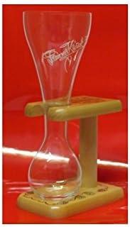 Vaso de cerveza Kwak + madera.