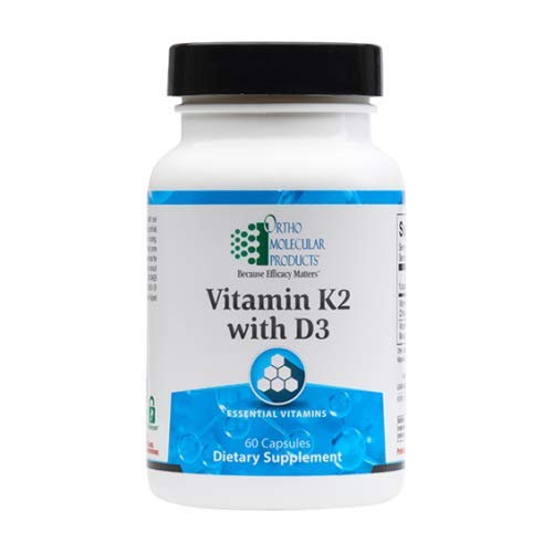 Ortho Molecular Products, Vitamin K2 with D3 60 caps