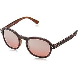 Police S1951M 50NKAX - anteojos de sol redondas para hombre, rojo, rosado (Red & Pink Mirror), 50 mm