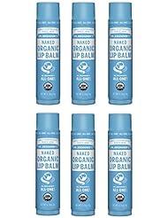 Dr. Bronner's Organic Lip Balm - Naked, 0.15oz. (6 Pack)
