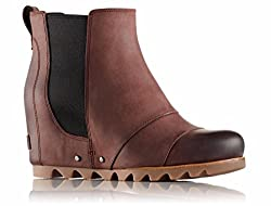 Sorel Womens Lea Wedge Redwoodblack Boot - 9