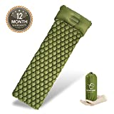 (US) Hitorhike Backpack Sleeping Pad | Lightweight Camping Sleeping Bag Pad | Ultralight & Compact & Inflatable Air Mattress Pad-Insulated Air Mat | for Camp,Backpacking,Hiking,Scouts,Travel(Green)