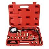 8MILELAKE 0-140PSI Fuel Injector Injection Pump Pressure Tester Gauge Kit Car Tools