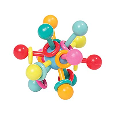 "Manhattan Toy Atom Rattle & Teether Grasping Activity Baby Toy, 4.5"" x 4.5"" x 3.5"" by Manhattan Toy that we recomend personally."
