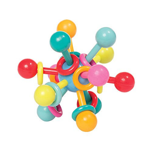Bumpy Round Beads - Manhattan Toy Atom Rattle & Teether Grasping Activity Baby Toy