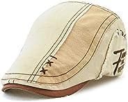 Beret Hat for Men Women Flat Cap Summer Boina Newsboy Style Hat Adjustable