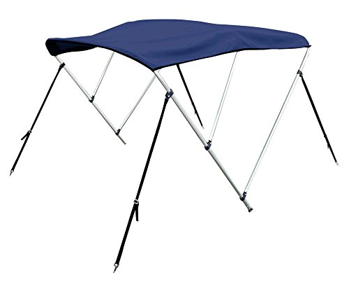 "Bimini Top Boat Cover 54"" H X 79""-84"" W 6' Long 3 Bow Navy Blue"