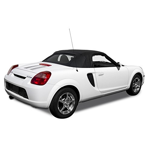 2000 Spider - Compatible With TOYOTA MR2 Spyder Spider Convertible Soft Top & Glass Window Twill 2000-2005 (Black)