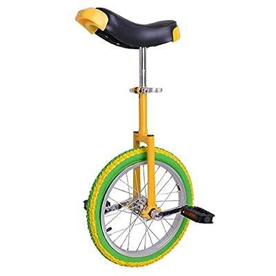 "Fabulous Lemon 16 Inch In 16"" Mountain Bike Wheel Frame Unicycle Cycling Bike With Comfortable Release Saddle Seat"
