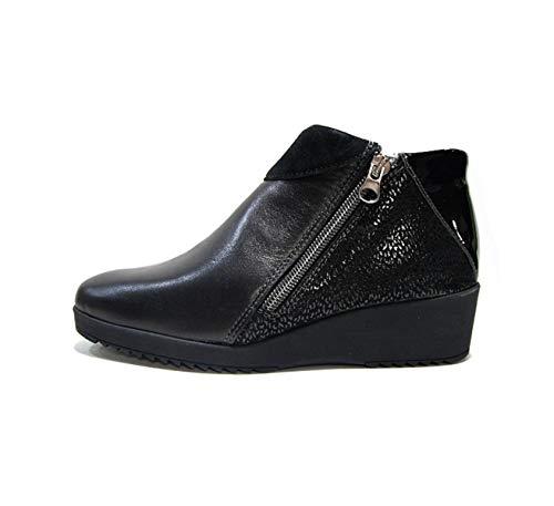 nero Melluso K90556 Scarpe Donna Pelle Nera Sneaker wP0fw8