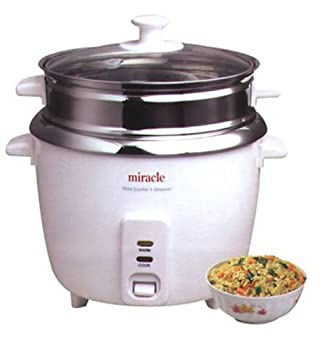 Miracle Exclusives Model ME81 Stainless Steel Rice Cooker