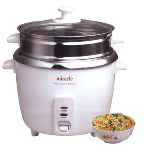 Miracle Exclusives Stainless Steel Rice Cooker Model Me81