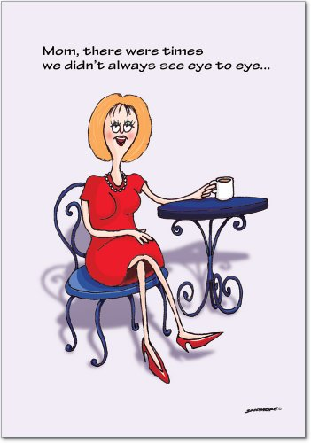 0385 'Eye to Eye MD' - Funny Mother's Day Greeting Card with 5