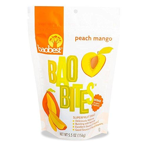 Baobest Baobites Super Fruit Snacks Peach Mango 5.5 Ounce